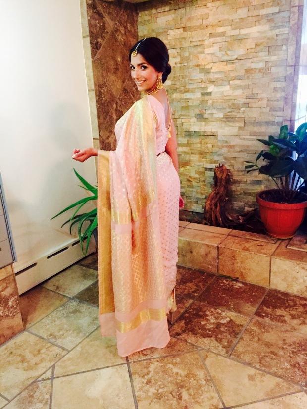 Pink Banarsi Sari